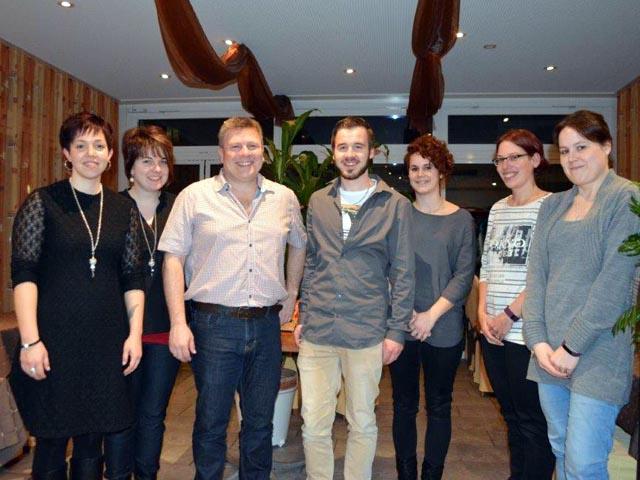 Der neue Vorstand (von links): Sarah Neuhaus, Cornelia Weber, Dieter Rehmann, Thomas Weber, Corinna Meier, Jannine Richner und Anita Jordi.