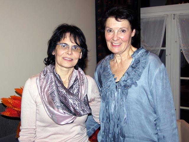 Evi Schlienger, neue Präsidentin (links), und Christina Basler (rechts).
