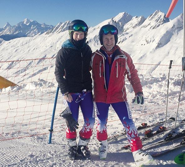 Karin Hasler und Dany Moesch der Fricktaler Skikiller. Foto: zVg
