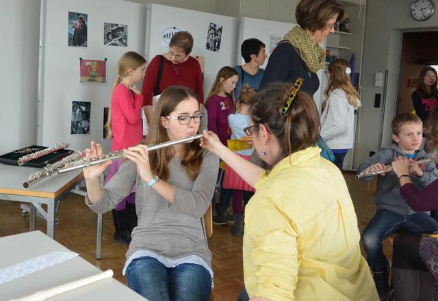 Instrumentenschnuppern Musikschule Frick