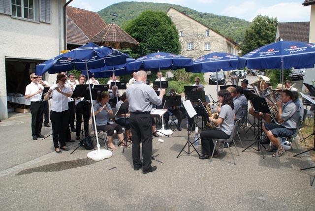 Die Musikgesellschaft Ittenthal gemeinsam mit der Blaskapelle Altendorf.