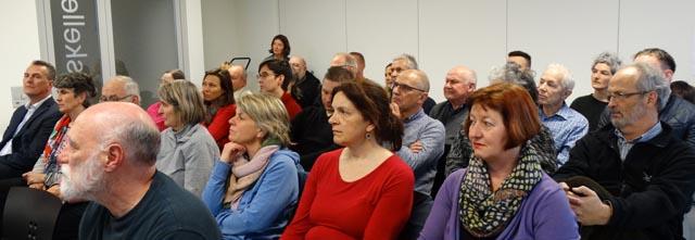 Plenum des offenen Austausches, Gruppenarbeit. Foto: zVg